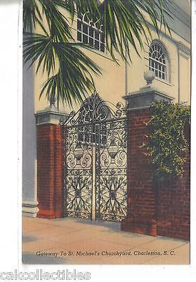 Gateway to St. Michael's Churchyard-Charleston,South Carolina - Cakcollectibles