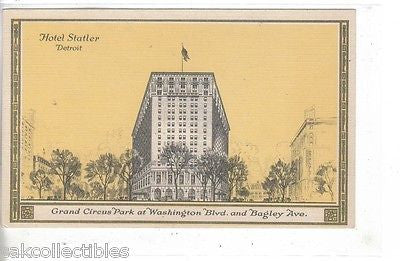 Hotel Statler-Detroit,Michigan - Cakcollectibles