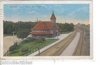 Michigan Central Depot-Niles,Michigan 1922 - Cakcollectibles - 1