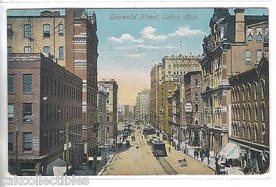 Griswold Street-Detroit,Michigan 1908 - Cakcollectibles - 1