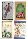 Lot of 4 Antique Easter Post Cards-Lot 40 - Cakcollectibles - 1