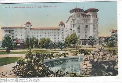 Hotel Green from City Park-Pasadena,California - Cakcollectibles