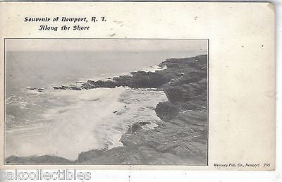 """Along The Shore""-Souvenir of Newport,Rhode Island UDB - Cakcollectibles"