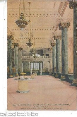 Banking Rooms,Corn Exchange National Bank-Chicago,Illinois 1911 - Cakcollectibles - 1