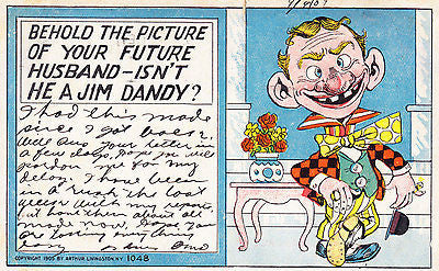 Behold The Picture Of Your Future Husband Comic Postcard - Cakcollectibles