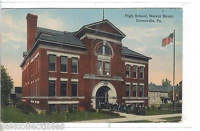 High School,Mercer Street-Greenville,Pennsylvania - Cakcollectibles
