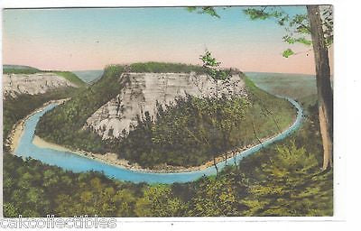 High Banks at Horseshoe Bend-Letchworth State Park,New York (Hand Colored) - Cakcollectibles