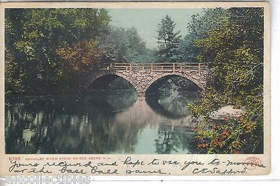 Ashuelot River Stone Bridge-Keene,New Hampshire 1907 - Cakcollectibles