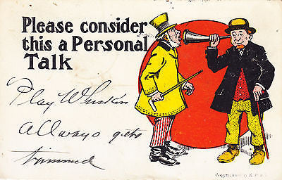 Please Consider This A Personal Talk Comic Postcard - Cakcollectibles