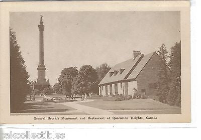 General Brock's Monument & Restaurant at Queenston Heights,Canada - Cakcollectibles