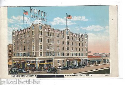 The New Hotel Resetar-Watsonville,California 1934 - Cakcollectibles