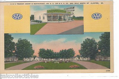 A & A Tourist Court & Restaurant-Claxton,Georgia - Cakcollectibles