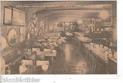 "Ship's Cabin,""Dan & Louis Oyster Bar""-Portland,Oregon - Cakcollectibles"