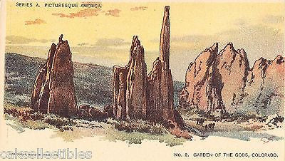 Garden of The Gods,Colorado-Picturesque America UDB - Cakcollectibles
