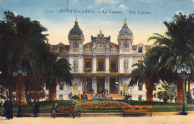Monte Carlo Casino Postcard - Cakcollectibles