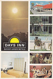 """Days Inn "" Budget Luxury Motels Postcard - Cakcollectibles - 1"