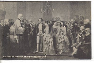 The Marriage of George Washington and Mrs. Custis Vintage Postcard Front