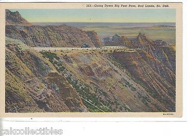 Going Down Big Foot Pass-Bad Lands-South Dakota - Cakcollectibles