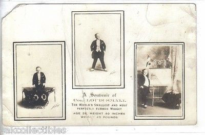RPPC-Col. Lotts Small -The World's Smallest and Most Perfectly Formed Midget - Cakcollectibles - 1