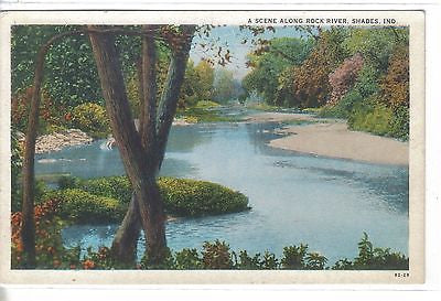 A Scene Along Rock River-Shades,Indiana - Cakcollectibles