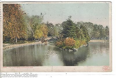 Lake in Elm Park-Worcester,Massachusetts 1908 - Cakcollectibles - 1