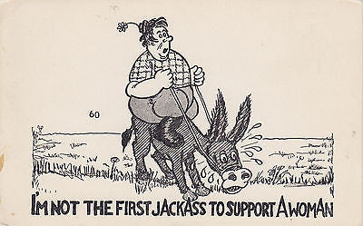 I'm Not The First Jack--- To Support A Woman Comic Postcard - Cakcollectibles