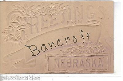 Greetings from Bancroft,Nebraska 1909 - Cakcollectibles