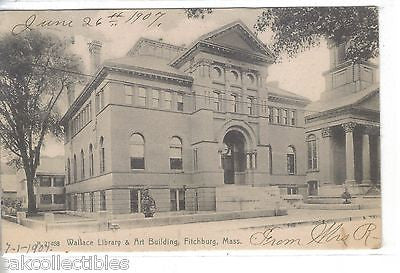 Wallace Library and Art Building-Fitchburg,Massachusetts 1907 - Cakcollectibles