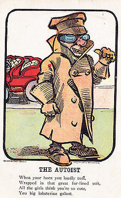 The Autoist Comic Postcard - Cakcollectibles