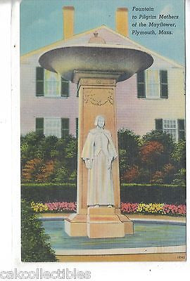Fountain to Pilgrim Mothers of The Mayflower-Plymouth,Massachusetts - Cakcollectibles