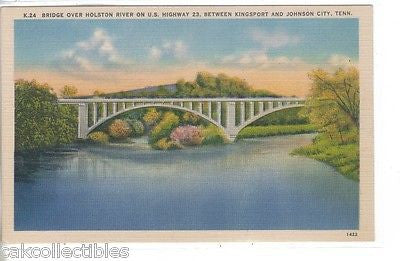 Bridge over Holston River on U.S. Highway 23 between Kingsport & Johnson City,Tn - Cakcollectibles