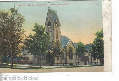 Congregational Church-Cadillac,Michigan 1916 - Cakcollectibles - 1