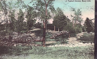 A Typical Country Road Side UDB Post Card - Cakcollectibles