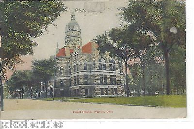 Court House-Warren,Ohio 1908 - Cakcollectibles - 1