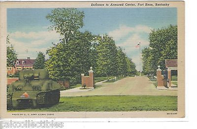 Entrance to Armored Center-Fort Kox,Kentucky 1953 - Cakcollectibles