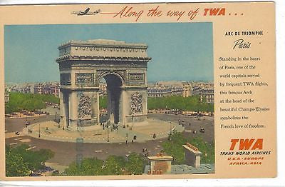 Arc De Triomphe-Paris (Along The Way of TWA) Advertising - 1