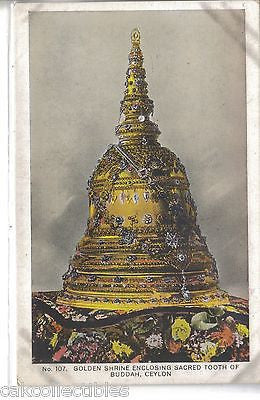 Golden Shrine Enclosing Sacred Tooth of Buddah-Ceylon - Cakcollectibles