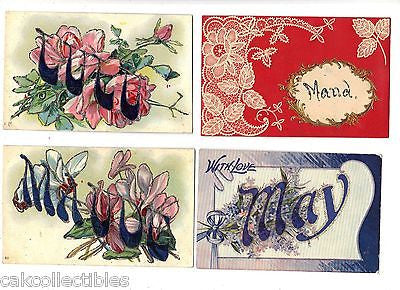 Lot of 4 Antique Greetings Post Cards-Lot 30 - Cakcollectibles - 1