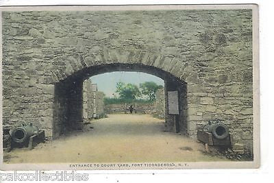Entrance to Court Yard-Fort Ticonderoga,New York - Cakcollectibles