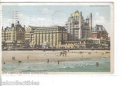 A Group of Big Hotels-Atlantic City,New Jersey 1911 - Cakcollectibles