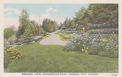General View Of Springbank Park - London, Ontario, Canada Postcard - Cakcollectibles - 1