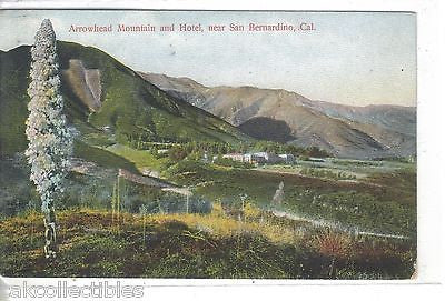 Arrowhead Mountain and Hotel near San Bernardino,California - Cakcollectibles