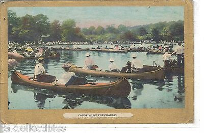 Canoeing on The Charles 1910 - Cakcollectibles