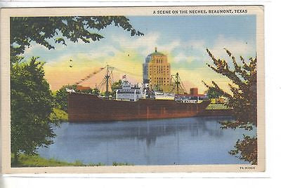A Scene on The Neches-Beaumont,Texas 1946 - Cakcollectibles