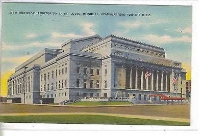 New Municipal Auditorium-St. Louis,Missouri 1943 - Cakcollectibles