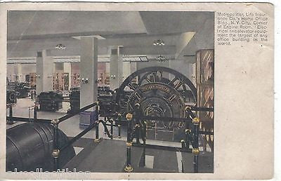 Corner of Engine Room,Metroplitan Life Ins. Co.'s Home Office-New York City 1908 - Cakcollectibles