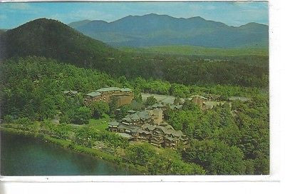 Aerial View of The Famous Lake Placid Club, Lake Pacid, New York - Cakcollectibles