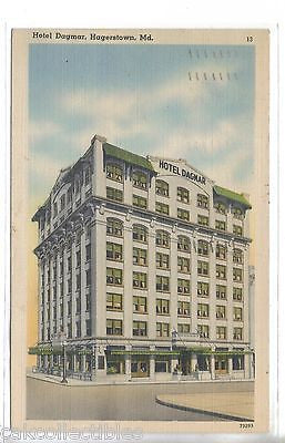 Hotel Dagmar-Hagerstown,Maryland 1944 - Cakcollectibles