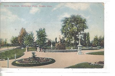 Obitz Fountain,Walbridge Park-Toledo,Ohio 1911 - Cakcollectibles