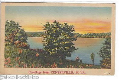 Greetings from Centerville,West Virginia 1942 - Cakcollectibles